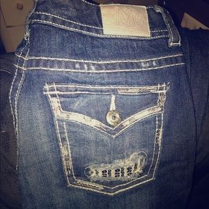 Maurices Premium Jeans - blue jeans with silver sequins embellishments